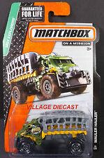 2015 Matchbox #78 Mauler Hauler™ GREEN/GREY/YELLOW/MOC