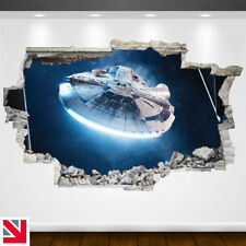 MILLENNIUM FALCON STAR WARS Wall Decal Sticker Vinyl WALL HOLE A4