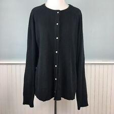 Size 2X Karen Scott Women's Plus Black Classic Button Up Down Cardigan Sweater