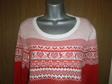 red cotton mix jumper size 16