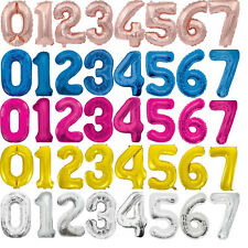 """34"""" Giant Foil Number Balloons Air Helium Glitz Large Birthday Party Wedding"""