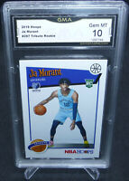 2019-20 NBA Hoops Tribute Ja Morant Rookie Card #297 GMA Graded Gem Mint 10