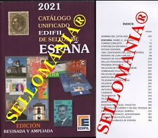 CATALOGO EDIFIL 2021 SELLOS DE ESPAÑA SPAIN STAMPS CATALOGUE  ULTIMA EDICION
