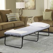 Folding Bed Memory Foam Mattress Fold Away Guest Portable Sleeper Cot Single
