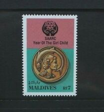 Maldives 1991 Year of the Girl Child. Single Value. Mint Never Hinged. Sg1492.