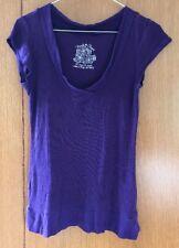 Derek Heart Purple Short Sleeve Top - Size M