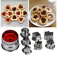 8pcs Cookie Cake Cutter Mold Fondant Pastry Biscuit Stainless Steel Mould Set