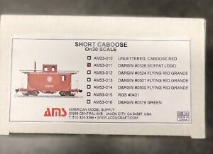 Accucraft O Scale On30  Short Caboose