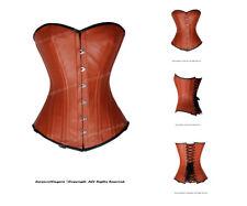 Heavy Duty 26 Double Steel Boned Waist Training Leather Overbust Corset #8329-LE
