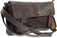 NEW COWHIDE GENUINE LEATHER SATCHEL MESSENGER LAPTOP BAG SHOULDER OFFICE CASE