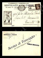 Milano - Fabbrica Ombrelle - Bertolazzi e Falciola - 12.10.1933