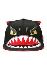 New Cute Unisex Korean Animation Cartoon Monster Teeth Ears 3D Snapback Hat Cap