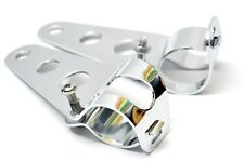 Universal Chrome Headlamp Brackets, 30-38mm, Cafe Racers and Specials
