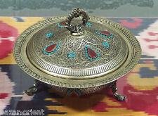 antik-look orient  Neusilber islamic Obstschale schale bowl dish Afghanistan -H