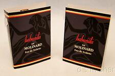 NEW 2 Sample Vials HABANITA by MOLINARD Women .03 oz.@ Eau De Toilette Vintage