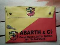 ABARTH & CO Large Handbook Holder Bag Document Folder Toolbag Race Rally Fiat