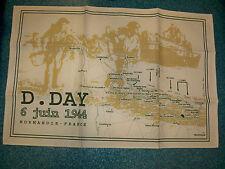 Torchon décoratif et commémoratif D.DAY 1944 plages débarquement