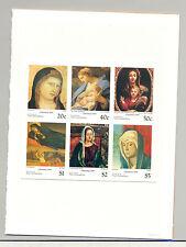 St Vincent 1995 Christmas, Art 1v M/S of 6 & 2v S/S Chromalin Proofs Mounted