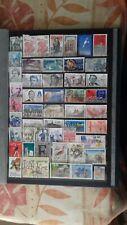 Jolie  lot de timbres en francs de toute année oblitéré rond