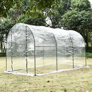 Outsunny 3.5 x 2m Garden Dome Polytunnel Greenhouse Plastic Plant Grow Tent