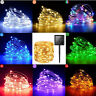 Solar Power Fairy 200 LED Light String Strip 20M Outdoor Copper Wire Room Decor
