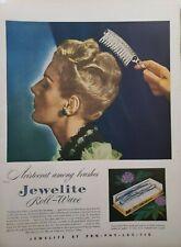 Vintage 194 Jewelite Roll-Wave Brush Print Ad Ephemera Wall Art Decor
