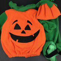 Boys Pumpkin Skeleton Jack O Lantern Halloween Fancy Dress Costume Outfit 7-12ys