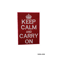 Keep Calm And Carry On Patch Embroidered Iron On Sew On Patch Badge For Clothes