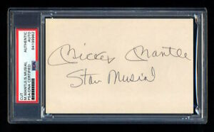 MICKEY MANTLE STAN MUSIAL SIGNED CUT PSA/DNA AUTOGRAPHED NEW YORK YANKEES WSC