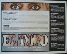 EL TOPO half sheet movie poster 22x28 ALEJANDRO JODOROWSKY 1975