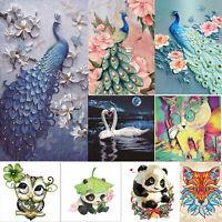 5D DIY Diamond Painting Animal Cross Stitch Embroidery Craft Kits Wall Art Home