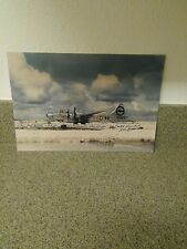 """Color Photo of the """"ENOLA GAY"""", Hiroshima A-BombPlane, Signed by 3Crew Members."""