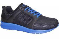 ATHLETIC WORKS 9W MENS Running Tennis SHOES Mesh BLACK BLUE STRINGS NEW