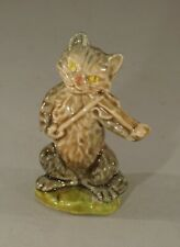 """Original Early 1970'S Wade Figurine - Cat And The Fiddle 3"""" Tall"""