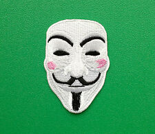 NOVELTY FANCY DRESS SEW ON / IRON ON PATCH:- ANONYMOUS (d) V FOR VENDETTA