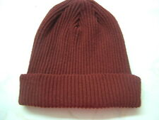 Made in Scotland Beautiful  100%   CASHMERE BEANIE HAT BORDEAUX................