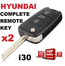 2 x Brand new Hyundai i30 remote car key Flip key For I30 434mhz transponder
