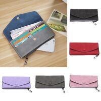 Matte Leather Mobile Phone Bag Zip Women Wallet Purse Clutch Tote Handbag Gift