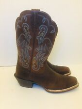 ARIAT Cowboy Women Boot 8.5 B Leather Rustic Brown  Square Toe Boots Worn Once