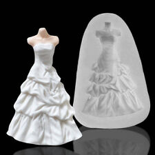 Wedding Dress Skirt Princess Silicone Fondant Mould Cake Decor Icing Paste Mold
