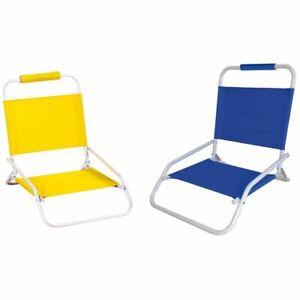 Coppia sedia spiaggina sdraio pieghevole in acciaio mare spiaggia 45x75xh53 2pz