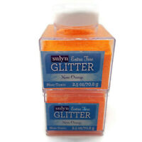 Sulyn Extra Fine Glitter Neon Orange 2.5 oz Container Lot of 2 Free Shipping