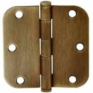 SCHLAGE  SC3P1011F-609E Round Corn Hinge, 3 Packs of 3 hinges- Antique Brass