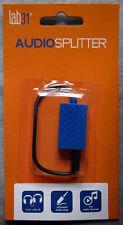 Stereo-Audio-Splitter 3.5 mm Klinkenstecker/Buchse 4-polig Farbe blau