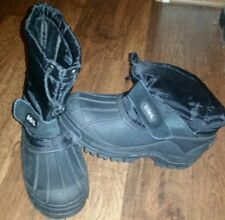 Boys Boots: Totes, Size 3, Black, Velcro, Waterproof