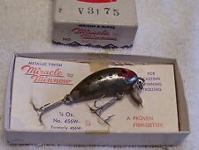 WRIGHT MCGILL MIRACLE MINNOW LURE  08/30/16NY  BOX-PAPER  TOUGH COLOR