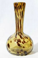 Hand Blown Art Glass Tortoise Shell Bud Vase