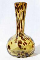 Hand Blown Art Glass Tortoise Shell Bud Vase