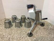 VINTAGE SALADMASTER Food Processor 5 Cones Slicer Grinder Grater Hand Crank