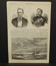 Harper's Weekly 1Pg The Transit of Venus- Coat of Kerguelen Island  1874 B8#12